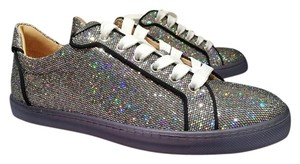 Christian Louboutin Sneakers Silver Glitter Athletic