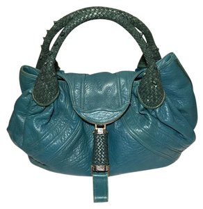 Fendi Satchel in turquoise/petrol blue green