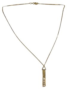14K Solid Yellow Gold diamod Necklace