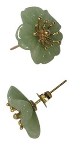 Other 14k Yellow Gold Jade Earrings