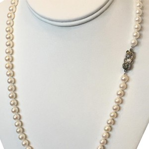 Mikimoto ESTATE AKOYA LARGE 7-6.5 MM 21 1/2 IN STERLING SILVER #16002