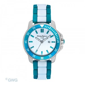Tommy Bahama Tommy Bahama Laguna Womens Watch Turquoise White Silver