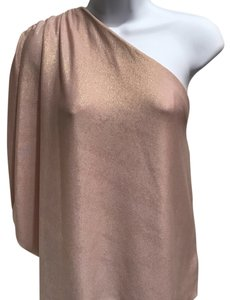 Alice + Olivia Top Gold/Blush