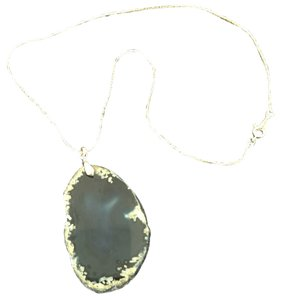 Geo stone Geo Blue Stone Pendant Necklace 18