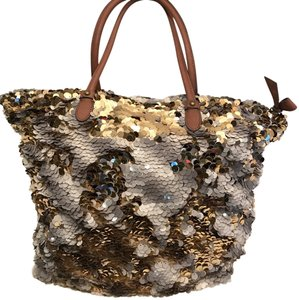 Miss Albright Tote in Gold And Silver