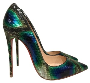 Christian Louboutin Sokate Kate Stiletto Python green Pumps