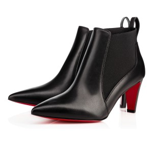 Christian Louboutin New Verafusa 70mm Ankle Leather Black Boots