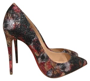 Christian Louboutin Pigalle Follies Glitter Stiletto black Mules