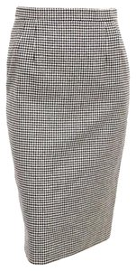 Louis Feraud Business Office Skirt Houndstooth