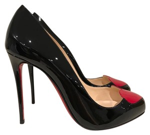 Christian Louboutin Doracora Stiletto Patent Heart black Pumps