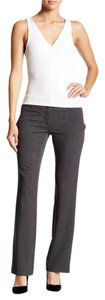 Amanda + Chelsea Washable Low Rise Stretch Straight Trouser Pants Grey Black