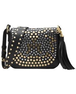 Michael Kors Jenkins Stud Brooklyn Saddle Shoulder Bag