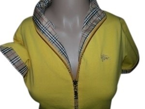 Burberry Top Nova Check Plaid & Yellow