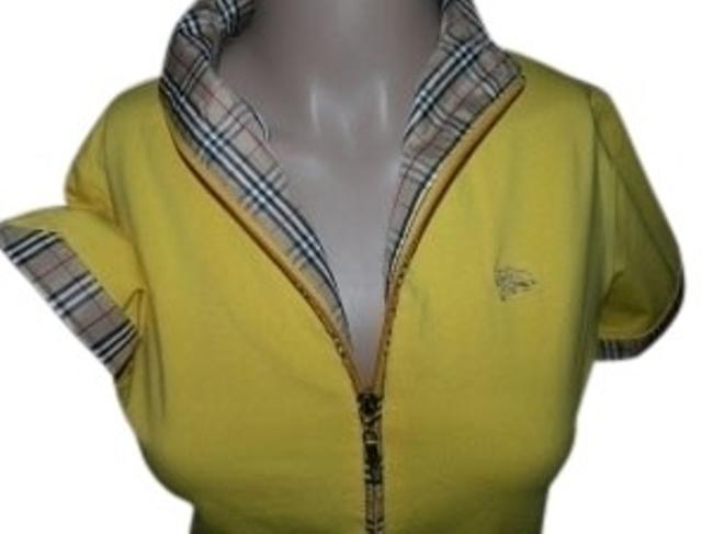 Preload https://img-static.tradesy.com/item/20356/burberry-nova-check-plaid-and-yellow-shirt-zipper-front-blouse-size-6-s-0-0-650-650.jpg