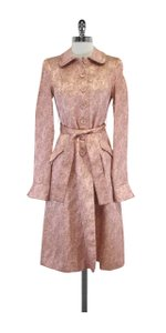 Laundry by Shelli Segal Pink Paisley Long Cotton Jacket