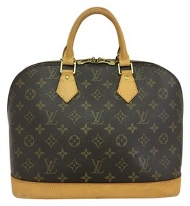 Louis Vuitton Lv Alma Pm Smock Canvas Tote in brown