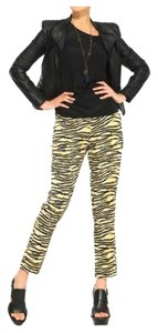 Scotch & Soda Animal Animal Print Leopard Relaxed Pants Black and yellow