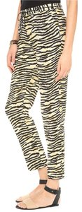 Scotch & Soda Animal Animal Print Leopard Summer Relaxed Pants Black and yellow