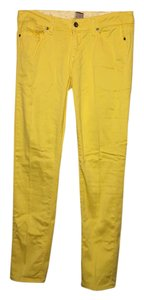 Paige Denim Peg Skinny Ankle Capri/Cropped Pants Yellow