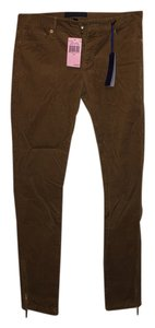 Juicy Couture Corduroy Ankle Zippers Capri/Cropped Pants Tan