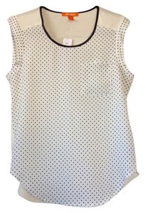 Joe Fresh Top White with black polka dots