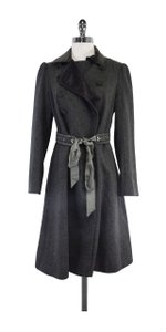 Rebecca Taylor Grey Wool Belted Coat