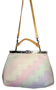 Other Pastel Patches Knit Leather Tote in multi-color