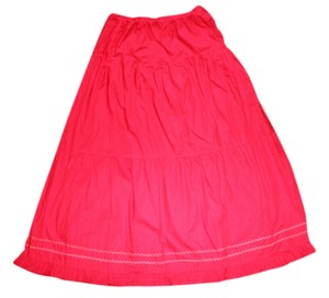 Boutique Europa Long Skirt Red
