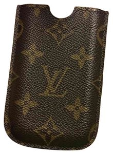 Louis Vuitton Louis Vuitton leather phone case.
