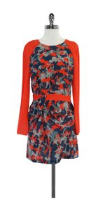 Rebecca Minkoff short dress Multi Color Print Silk Long Sleeve on Tradesy