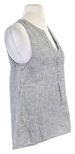 Joie Blue Linen Sleeveless Top