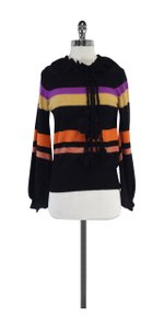 Sonia Rykiel Multi Color Striped Wool Sweater