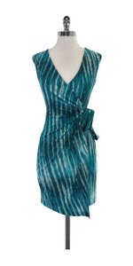 BCBGMAXAZRIA short dress Teal White Print Marian on Tradesy