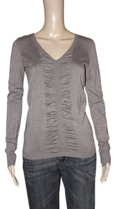 Express Longsleeve V-neck Soft T Shirt Brown