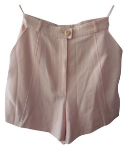 Chanel Vintage Wool Silk Couture Dress Shorts Light Pink