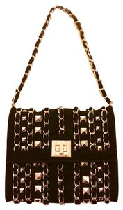 Other Chain Studded Evening Black Clutch