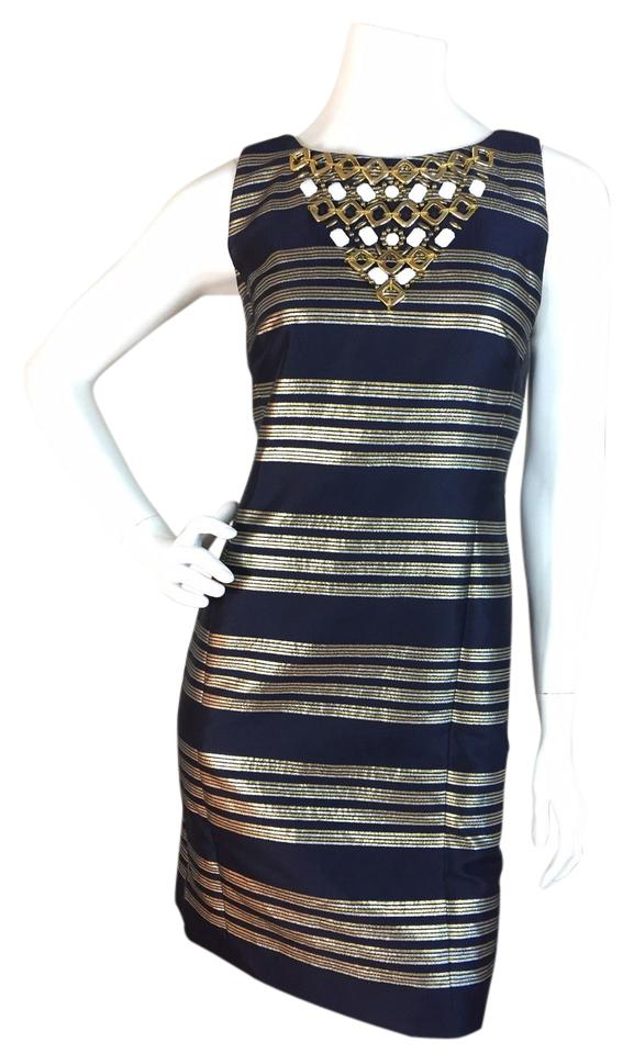 Navy and Gold Cocktail Dresses