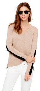 J.Crew Wool Cashmere Leather V-neck Sweater