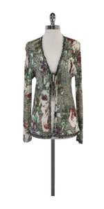 St. John Multi Color Crochet Cardigan