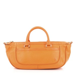 Louis Vuitton Leather Satchel in Orange