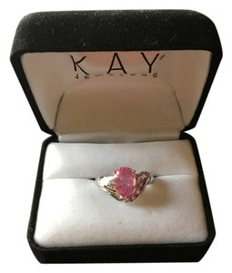 Kay Jewelers White Gold and Pink Sapphire Ring