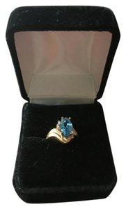 Marks & Morgan Blue Topaz and Gold ring