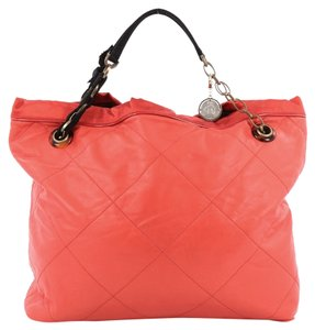 Lanvin Leather Tote in Red