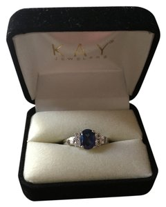 Kay Jewelers Blue Sapphire and white Gold