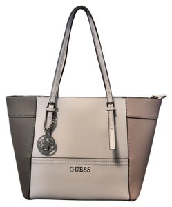 Guess Warm Office Tote in white+nude+gray