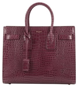 Saint Laurent Crocodile Tote