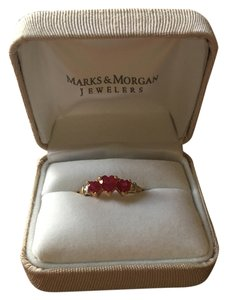 Marks & Morgan Ruby, Diamond, and yellow Gold ring