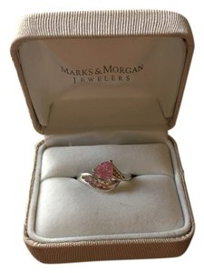 Marks & Morgan Pink Sapphire and white Gold ring
