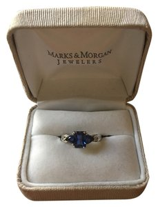 Marks & Morgan Blue Sapphire and white Gold ring
