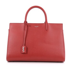 Saint Laurent Canvas Tote in Red